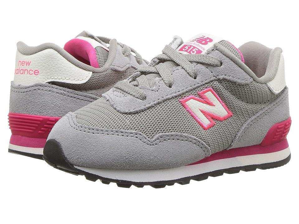 New Balance Kids KL515v1I (Infant/Toddler) (Grey/Pink Zing) Girls Shoes