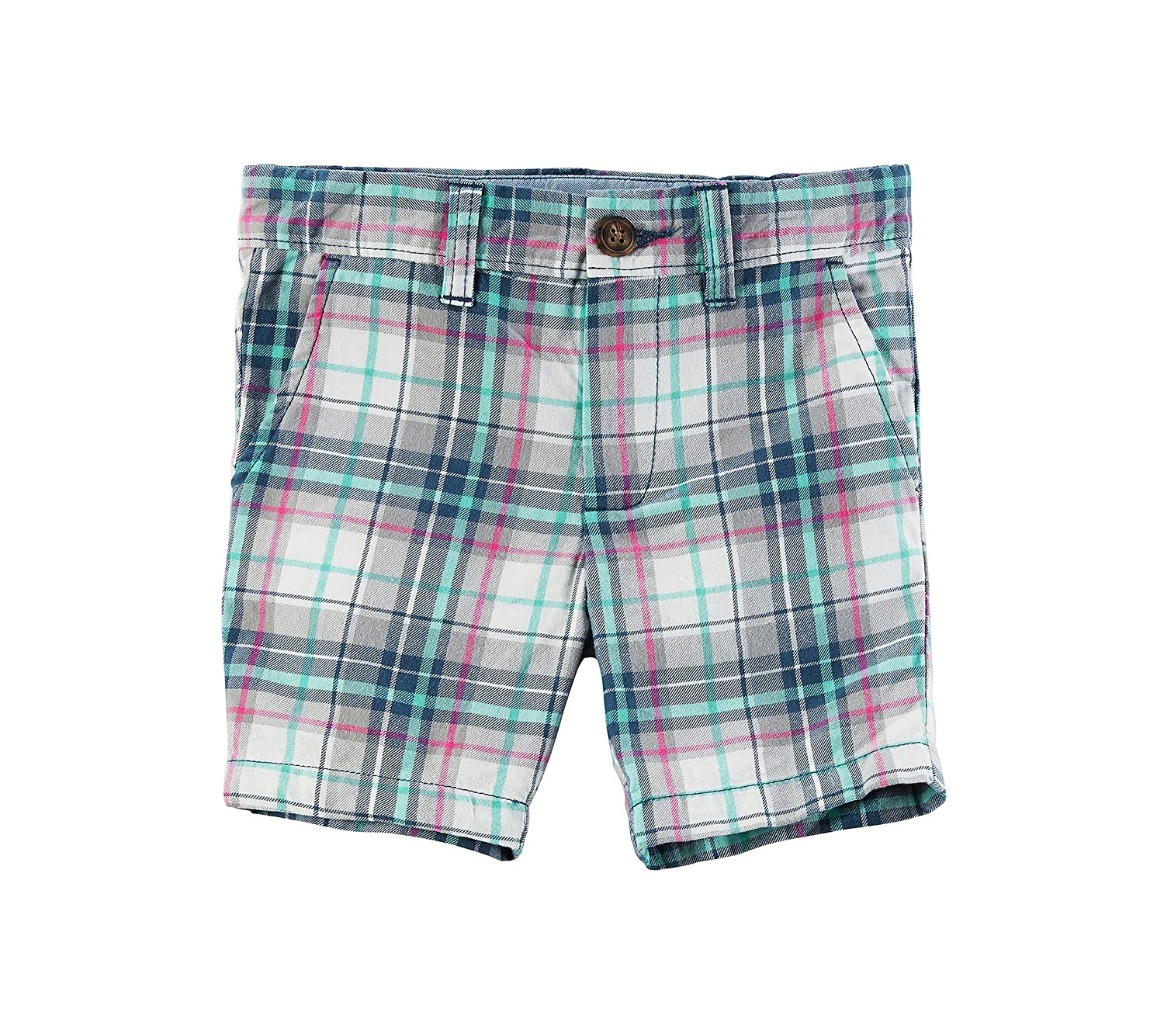Carter 's Boys ' 2t-8?Plaid Shorts