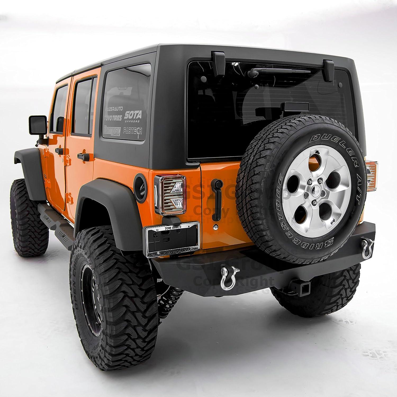 2 door model without Mirror Textured for 07-17 Jeep Wrangler JK GSI Rock Crawler Off Road Tubular Door