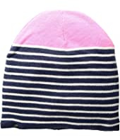 Fleece-Lined Striped Color Block Beanie