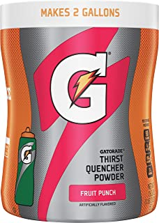 Gatorade Thirst Quencher Fruit Punch Powder 18.3 Ounce, 12 Count (Makes 2 Gal Each)