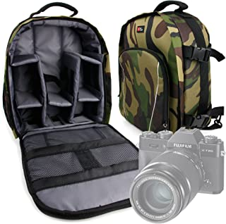 DURAGADGET Mochila Camuflaje con Compartimentos Desmontables para Cámaras Canon EOS 77D | 800D/Rebel T7i | EOS M6 | IXUS 185 | IXUS 190 + Funda Impermeable