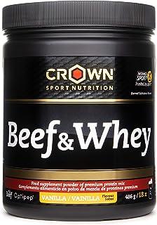 Crown Sport Nutrition Beef & Whey Proteína de Carne y Leche, Suplemento para Deportistas,