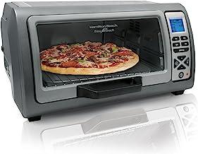 Hamilton Beach Digital Countertop Toaster Oven with Easy Reach Roll-Top Door, 6-Slice,..