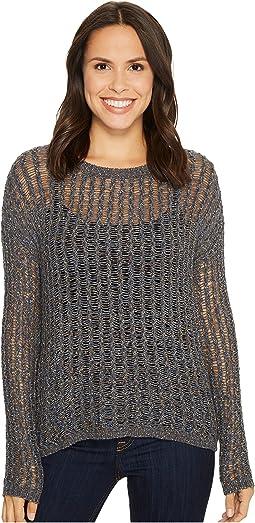 Long Sleeve Novelty Tweed Yarn Sweater