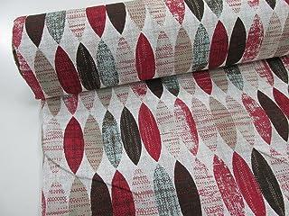 comprar comparacion Confección Saymi Tela loneta Estampada 2,45 MTS Ref. Eliptico Rojo, Doble Ancho 2,80 MTS.