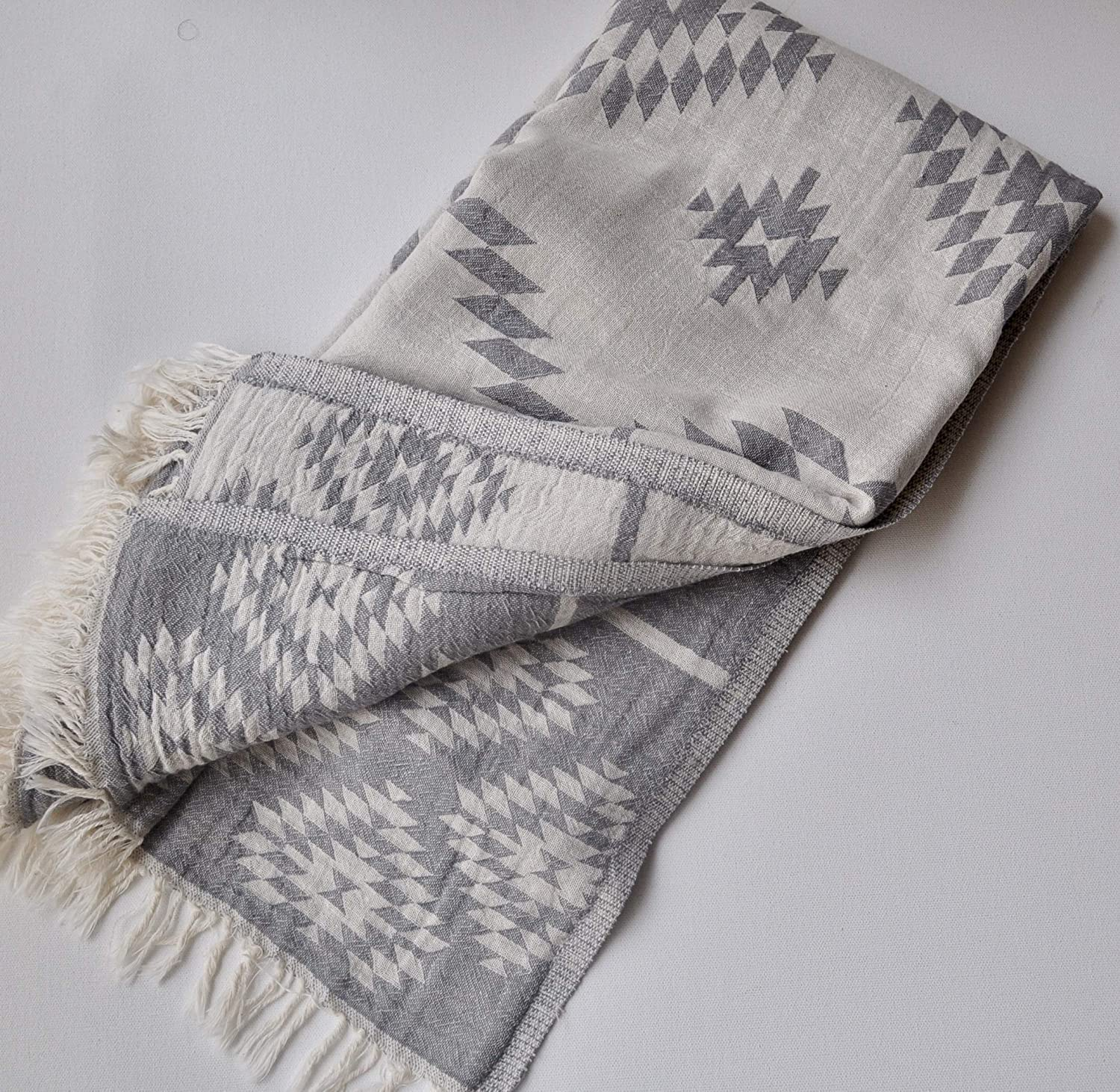 Turkish Topics on TV Towel Southwestern style 2 sides and San Diego Mall grey color 7 ivory