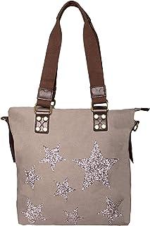 FASHION YOU WANT Handtasche Glamoustar Henkeltasche mit Glitzer Stern