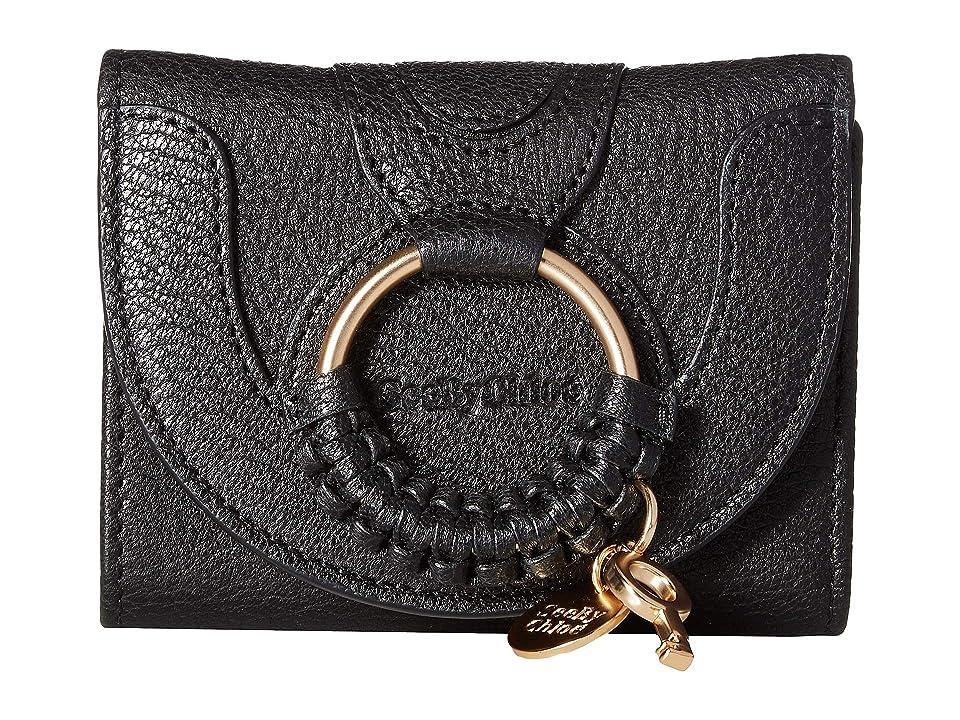 See by Chloe Hana Leather Wallet (Black) Handbags