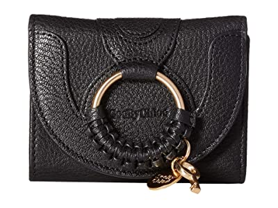 See by Chloe Hana Leather Wallet (Black) Handbags