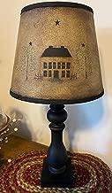 Primitive Distressed Rustic Mustard Saltbox House Lamp Farmhouse Table Light