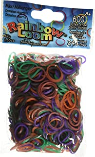 Rainbow Loom Chameleon Mood Change Rubber Bands with 24 C-Clips (600 Count)