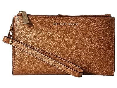 MICHAEL Michael Kors Double Zip Wristlet (Acorn) Wristlet Handbags