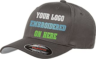 Custom Hat. Flexfit 6277. Flexfit 6477. Embroidered. Your Own Logo Curved Bill.
