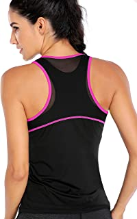 ATTRACO Womens Mesh Yoga Tops Cute Workout Tank Top Running Exercise Gym Shirts