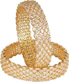 مجموعة أساور قطرية مطلية بالذهب زيركون تقليدي للبنات والنساء من شيف_كوليكشن