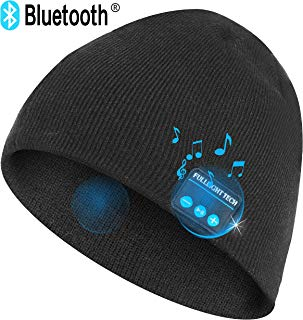 Upgraded V4.2 Bluetooth Beanie Hat Headphones Wireless Headset Winter Music Speaker Hat Knit Running Cap with Stereo Speakers & Mic Unique Christmas Tech Gifts for Women Mom Her Men Teens Boys Girls