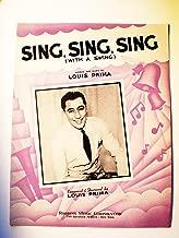Best sing sing sing louis prima sheet music Reviews