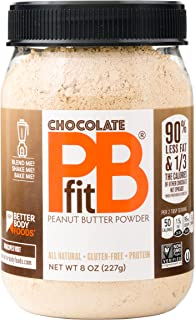 PBfit — All-Natural Chocolate Peanut Butter Powder, Produced by BetterBody Foods, 8 Ounce