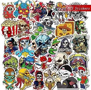 Gxhong 50 stycken halloween klistermärken, vattentäta vinylklistermärken, graffiti klistermärken, halloween teman scrapboo...