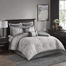 Madison Park Odette Comforter Solid Jacquard Damask Medallion On Satin Striped Ultra Soft Down Alternative Hypoallergenic ...