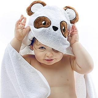 Toalla Extra Suave Niño Bebe Recién Nacido Playa Poncho Grande De 0 a 2 Años Albornoz Capucha Tridimensional Panda Super Absorbente Doble Espesor Ducha Piscina Baño 100% Algodón Orgánico alta calidad