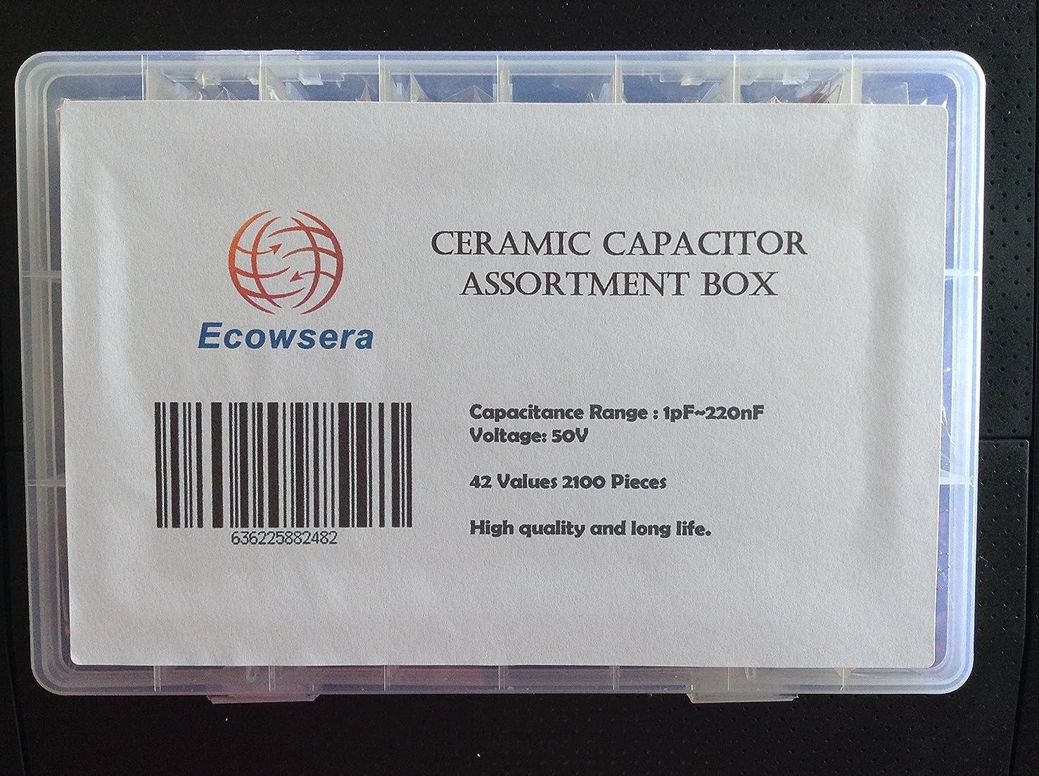 42 Value 2100 pcs Ceramic Capacitor Assortment Box Kit
