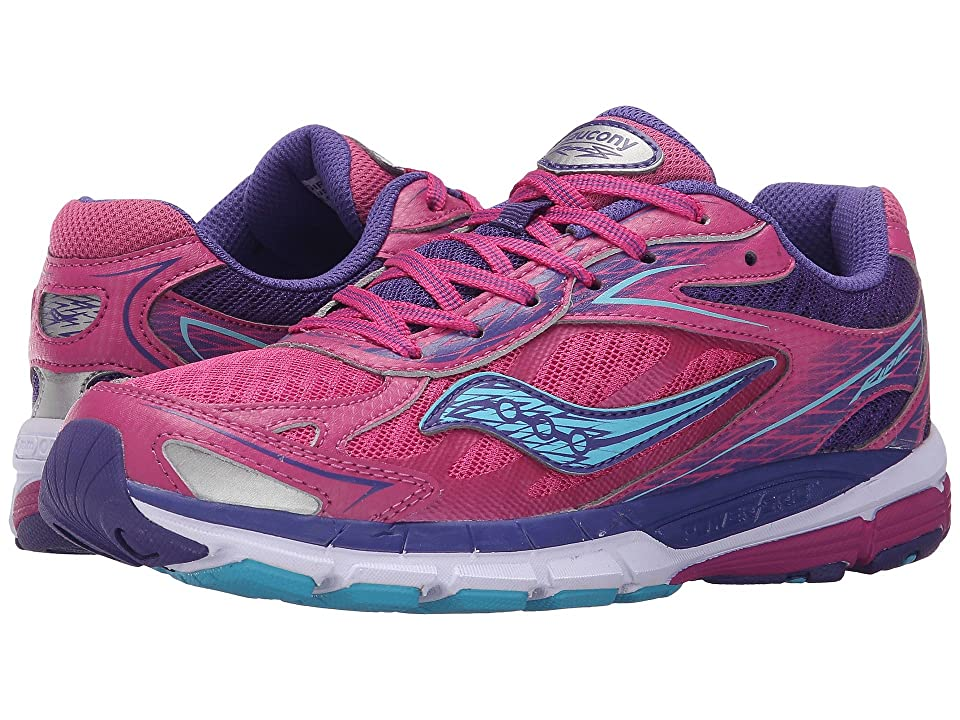 Saucony Kids Ride 8 (Little Kid/Big Kid) (Pink/Purple) Girls Shoes