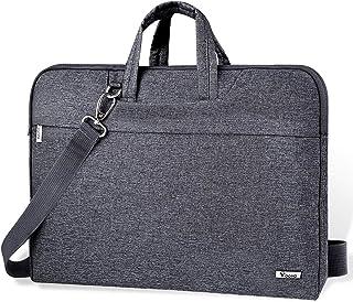 Voova Housse Sacoche pour Ordinateur Portable 14 15 15.6 Pouces avec Bandoulière & Manipuler, Pochette Imperméable Protect...