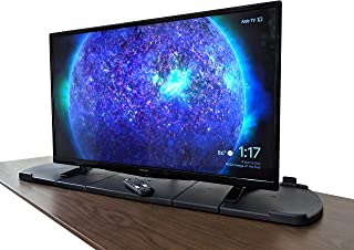 LapWorks 4K TV Swivel for 2 Leg TVs - Expands to fit 40, 50, 60, 70 inch and Larger TV's - Heavy Duty, Includes 2 Extensions and TV Anchor Strap