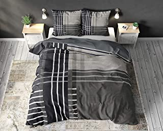 SLEEP TIME Housse De Couette 100% Coton Nikka, 220 x 240cm, 60 x 70cm, Bleu