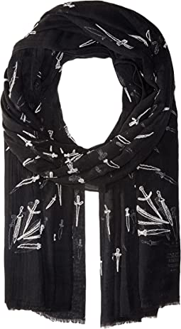 rag & bone - Embroidered Dagger Scarf