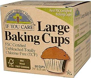 If You Care  100%植物由来 無漂白 ベーキングカップ 大 60枚入り [並行輸入品]