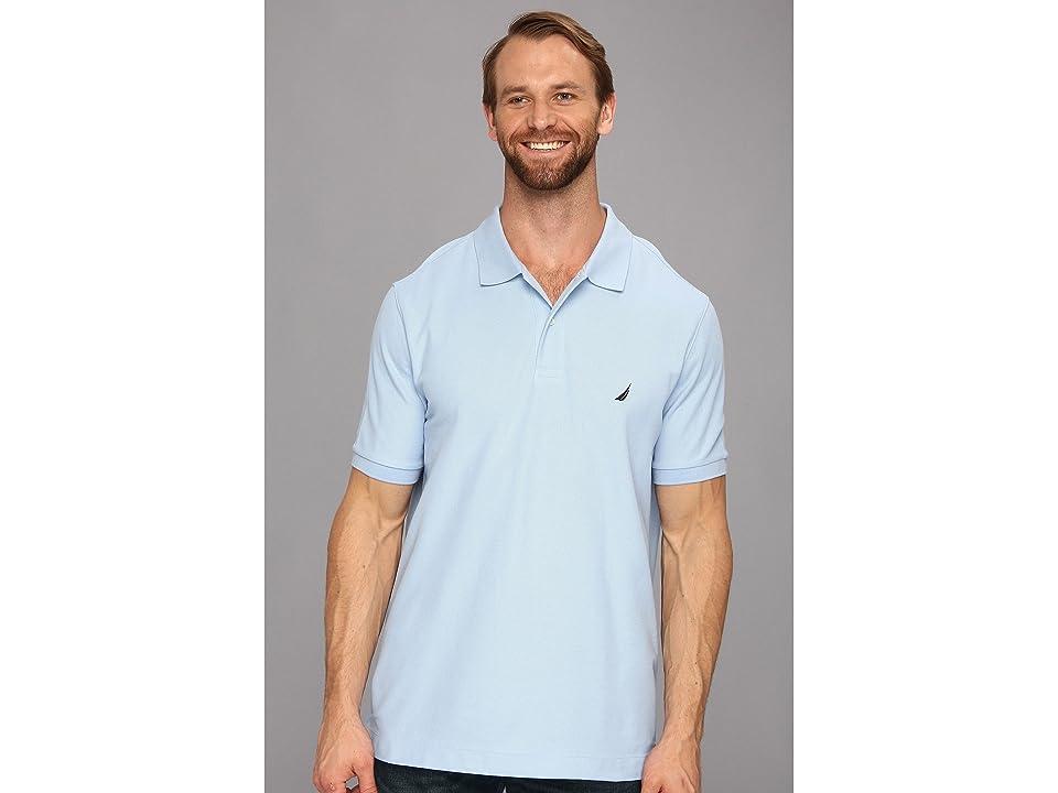Nautica Big & Tall Big Tall Anchor Solid Deck Shirt (Noon Blue) Men