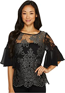 Karen Kane - Flare Sleeve Lace Top