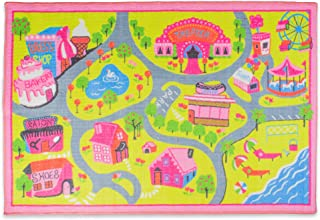 Olpchee Kids Play Mat Cartoon Carpet Baby Crawling Mat Foam Rug Play Car Traffic Game Pad Game Room Area Rug Village