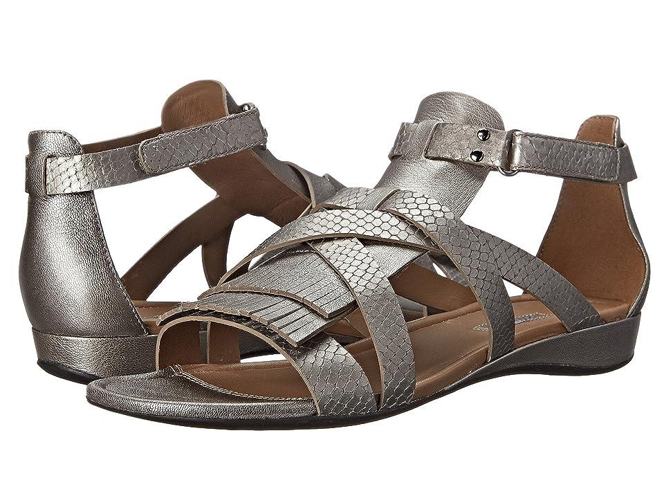 0b82a58ee73 ECCO Bouillion Sandal II Gladiator (Warm Grey Metallic Warm Grey Metallic) Women s  Sandals