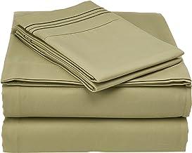 طقم ملاءات سرير سوبريم 1800 سيريس من سويت هوم كوليكشن Queen MSH-1800-Q-SGE