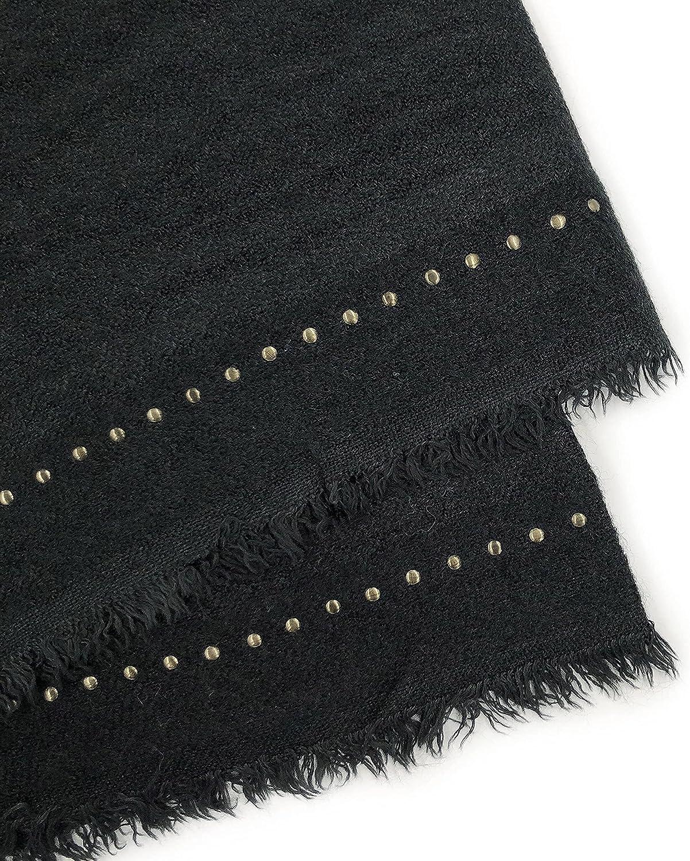 OLALEO Women's All Season Fashion Chunky Long Scarves with Bling Metallic Studs Oversized Warm Soft Large Wrap Shawl Blanket Gifts