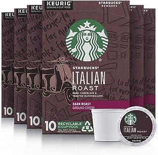 Starbucks Dark Roast K-Cup Coffee Pods — Italian Roast for Keurig Brewers — 6 boxes..