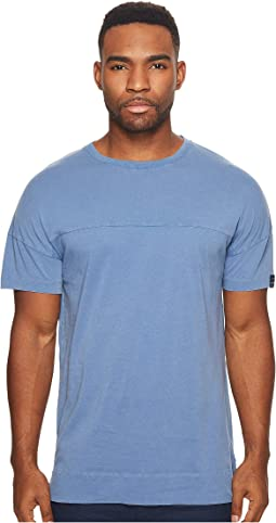 Scotch & Soda Garment Dyed Crew Neck Tee with Dropped Shoulder