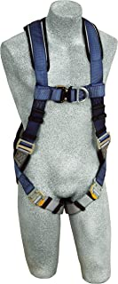 3M DBI-SALA ExoFit 1108527 Vest Style Harness, Front and Back D-Rings, Loops For Belt, Quick-Connect Buckles, Large, Blue/Gray