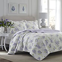 Laura Ashley Keighley Lilac Quilt Set, King,