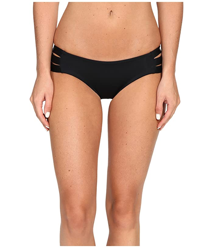 Vitamin A Swimwear Emelia Triple Strap Bottom (Eco Black) Women