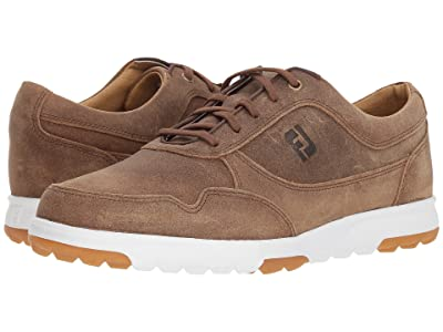 FootJoy Golf Casual Spikeless Street Sneaker (All Over Hickory/Tan Waxed Suede) Men