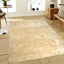 Saral Home Soft Heavy Duty Saggy Carpet for Living Room -182x274 cm, Ivory