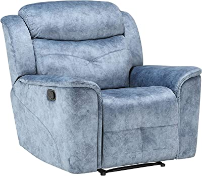 ACME Mariana Recliner - - Silver Blue Fabric