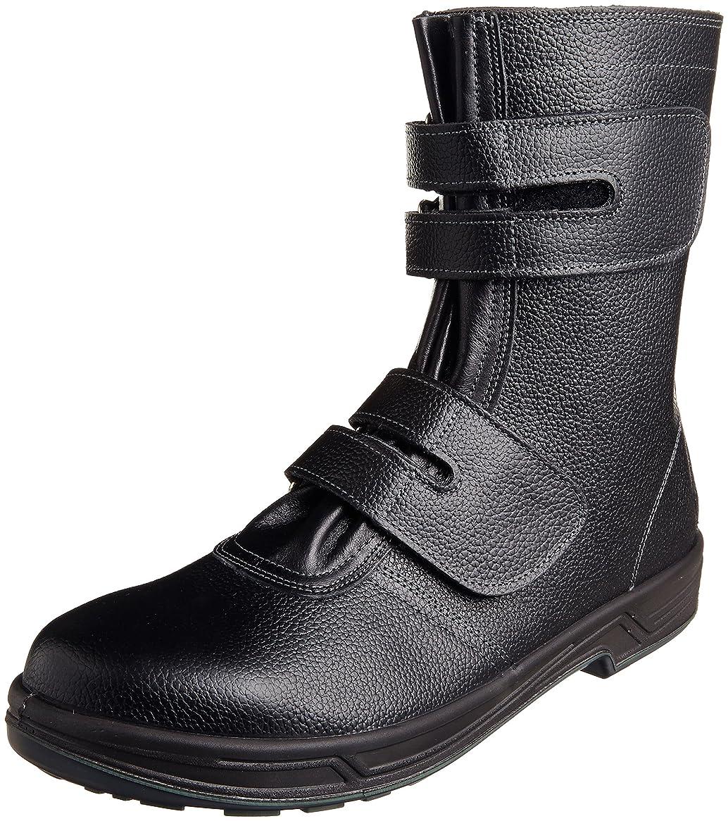 アクティブ魅力的大いに[シモン] 安全靴 長編上 JIS規格 耐滑 快適 スタンダード マジック SS38黒