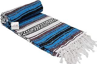 Open Road Goods Mexican Blanket - Authentic Serape Falsa Blanket - Handmade