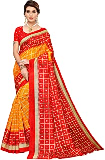 JANKIT DESIGNER Synthetic Saree with Blouse Piece